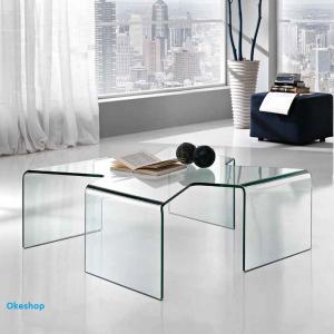 Tavolino in vetro temperato...