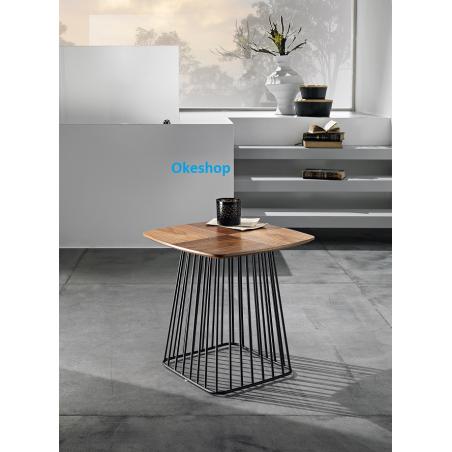 Tavolino in legno e metallo REFUS ALTO...MADE IN ITALY