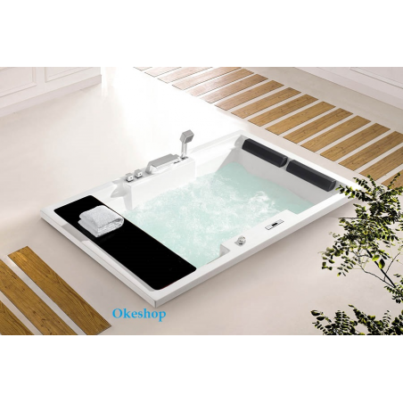 Vasca idromamassaggio rettangolare 185x120x60
