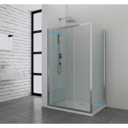 Box doccia apertura frontale scorrevole con parte fissa 6 for Arredo bagno con box doccia